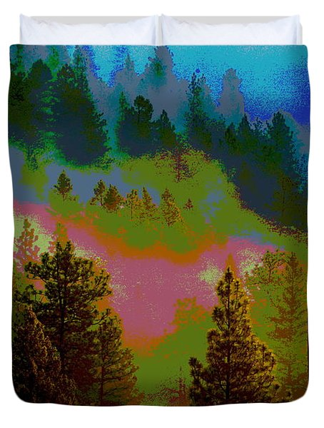 Morning Arrives In The Pacific Northwest Duvet Cover