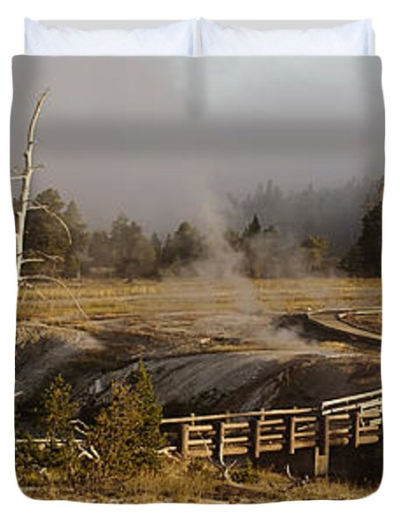 Morning At Castle Bridge Duvet Cover