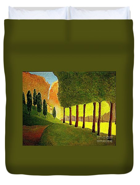 Chambord Morning By Bill O'connor Duvet Cover