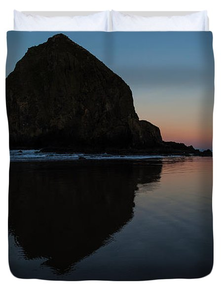 Morning At Haystack Duvet Cover by Mike Reid
