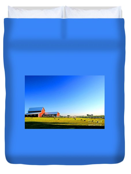 Morning At The Farm Duvet Cover
