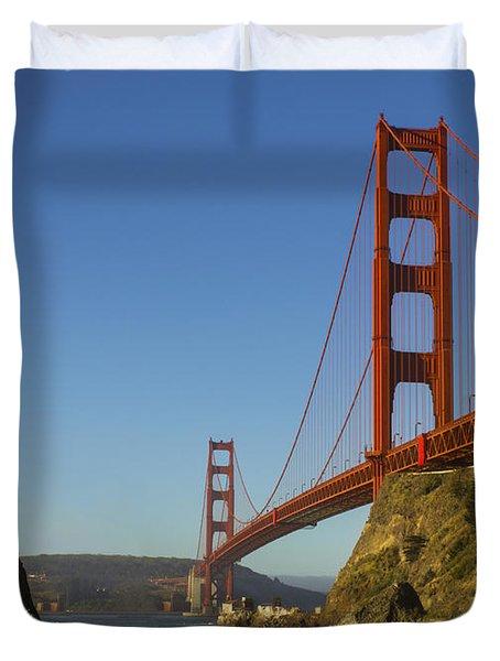 Morning At The Golden Gate Duvet Cover