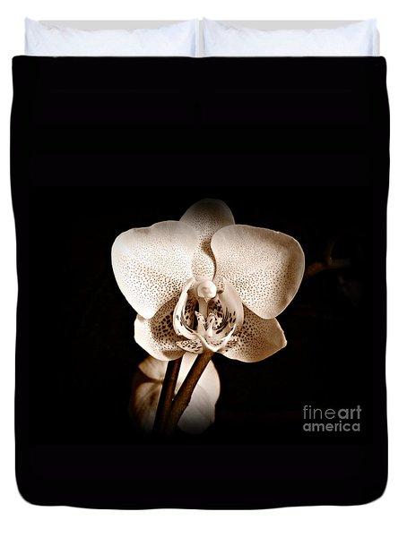 Morning Beauty Sepia Duvet Cover