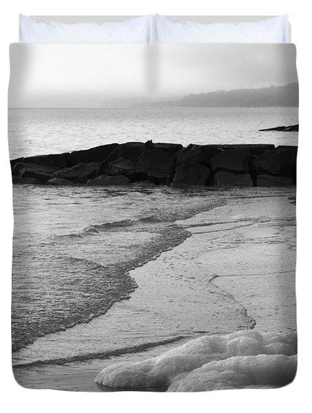 Morning Beneath The Grey Duvet Cover