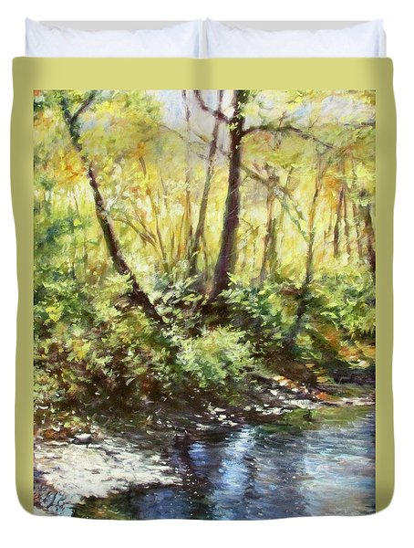 Morning By The River Duvet Cover