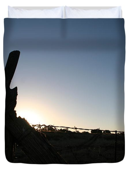Duvet Cover featuring the pyrography Morning by David S Reynolds