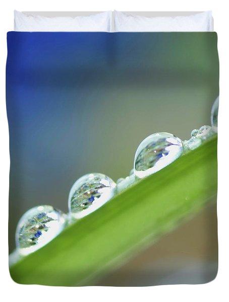 Morning Dew Drops Duvet Cover