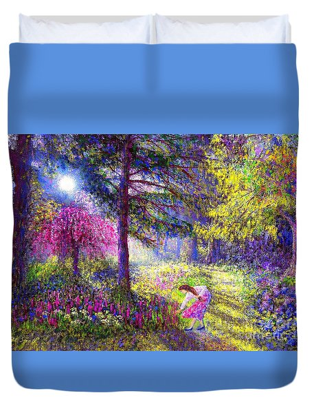 Morning Dew Duvet Cover by Jane Small