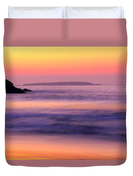 Morning Dream Singing Beach Duvet Cover