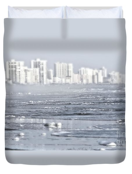 Duvet Cover featuring the photograph Morning Dreams In Daytona by Janie Johnson