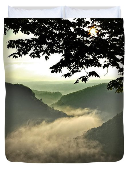 Morning Fog Duvet Cover by Richard Engelbrecht