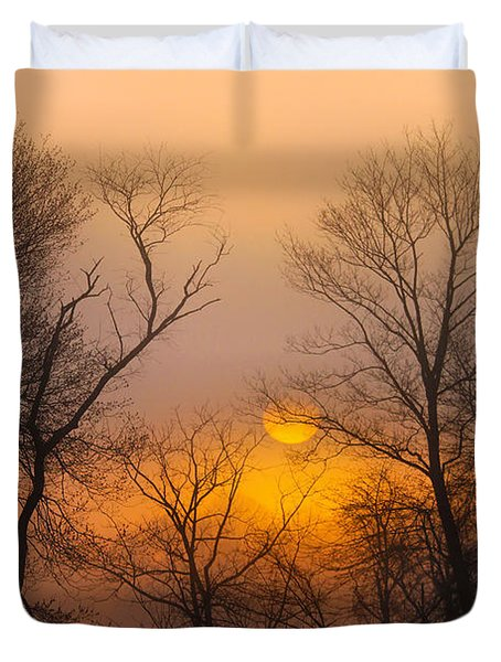 Morning Fog Duvet Cover by Roger Becker