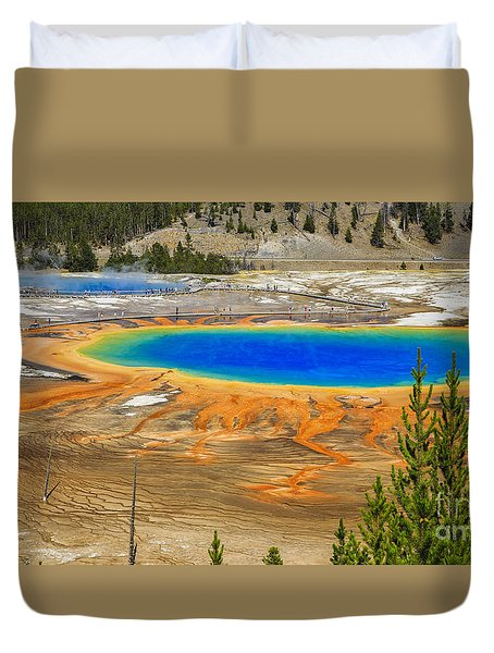Grand Prismatic Geyser Yellowstone National Park Duvet Cover
