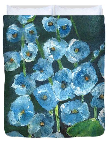 Morning Glory Greetings Duvet Cover by Sherry Harradence
