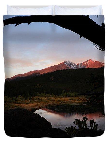 Morning Glow On Mountain Peaks Duvet Cover