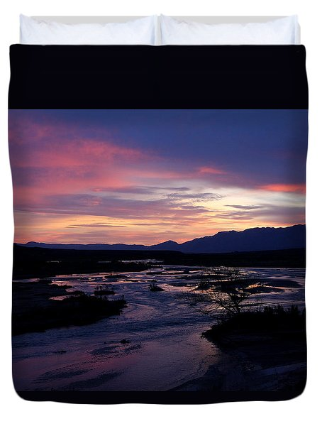 Duvet Cover featuring the photograph Morning Glow by Tammy Espino