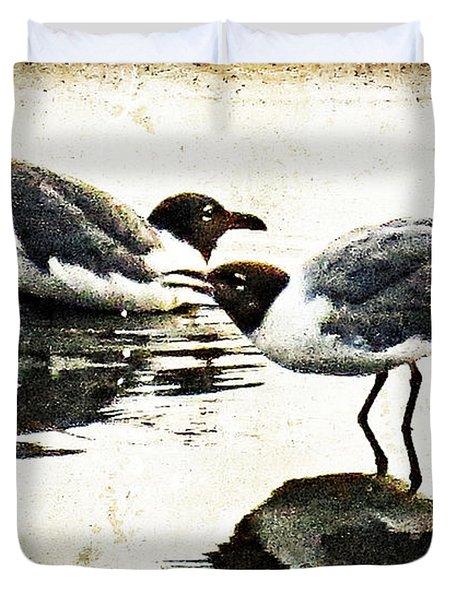 Morning Gulls - Seagull Art By Sharon Cummings Duvet Cover