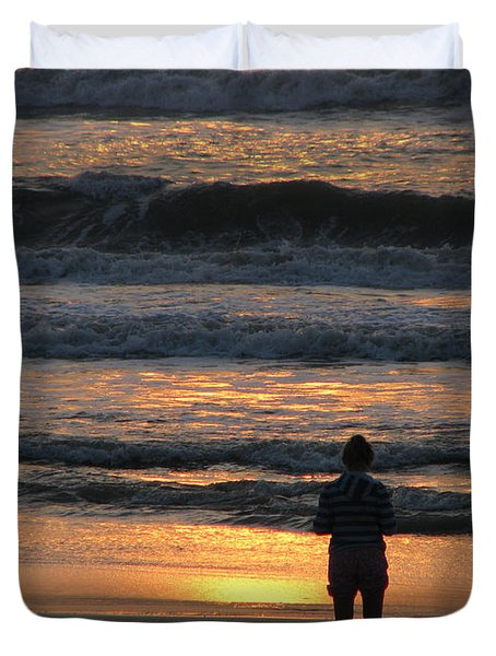 Duvet Cover featuring the photograph Morning Has Broken by Greg Patzer