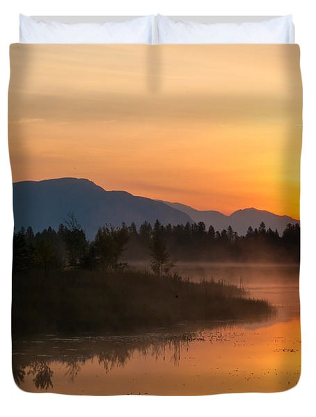 Duvet Cover featuring the photograph Morning Has Broken by Jack Bell