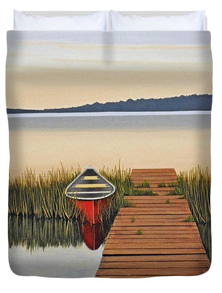 Duvet Cover featuring the painting Morning Has Broken by Kenneth M  Kirsch