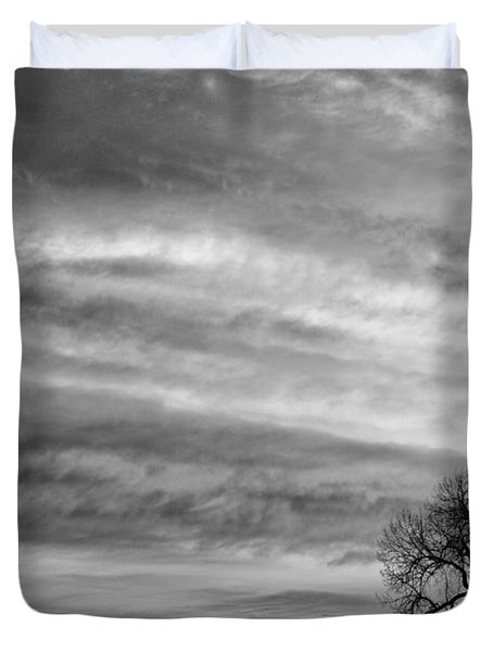 Morning Has Broken Like The First Dawning Landscape Bw Duvet Cover by James BO  Insogna