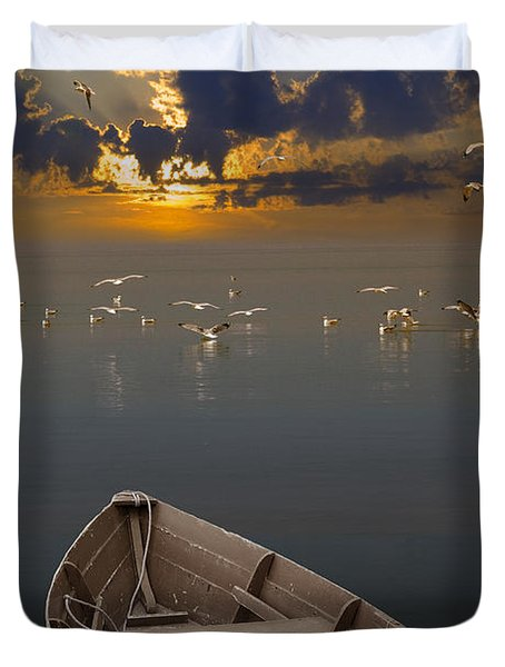 Morning Has Broken Like The First Morning Duvet Cover by Randall Nyhof