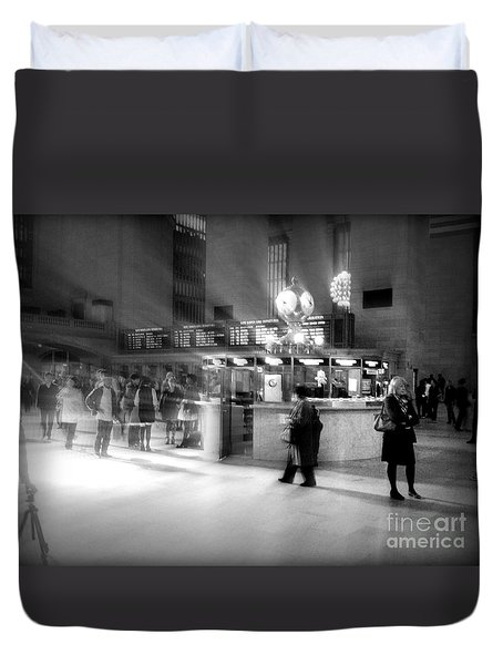Morning In Grand Central Duvet Cover by Miriam Danar