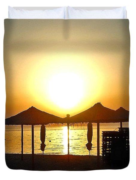 Morning In Greece Duvet Cover