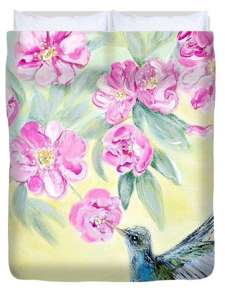 Morning In My Garden. Card Duvet Cover