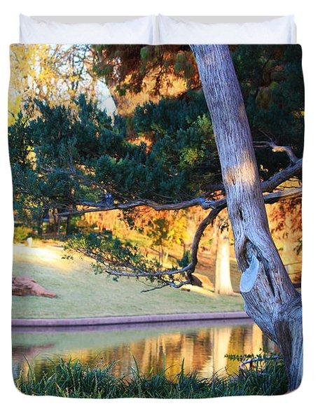 Morning In The Park Duvet Cover