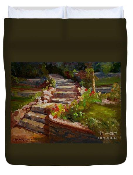 Morning Light Duvet Cover by Lisa Phillips Owens
