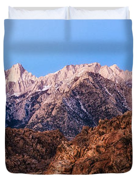 Morning Light Mount Whitney Duvet Cover