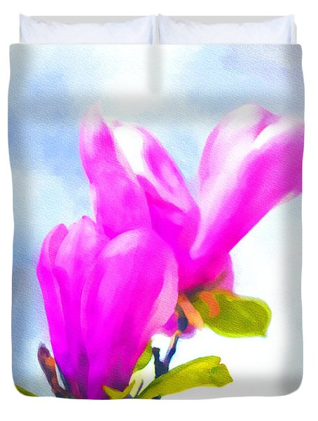 Morning Magnolia  Duvet Cover by Ken Frischkorn