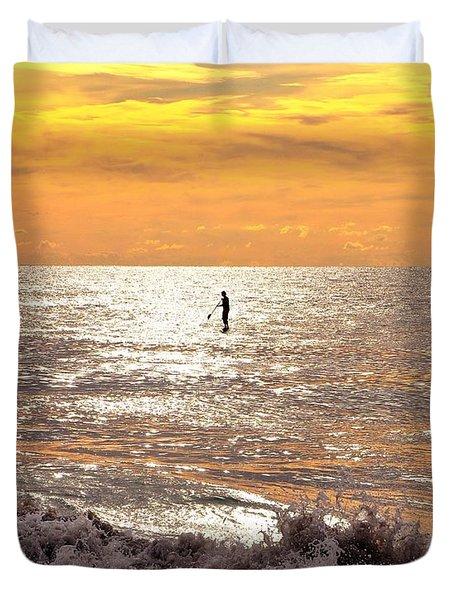 Sunrise Solitude Duvet Cover