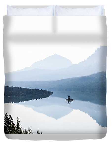 Duvet Cover featuring the photograph Morning Mist by Aaron Aldrich