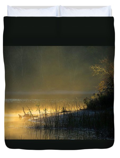 Duvet Cover featuring the photograph Morning Mist by Dianne Cowen