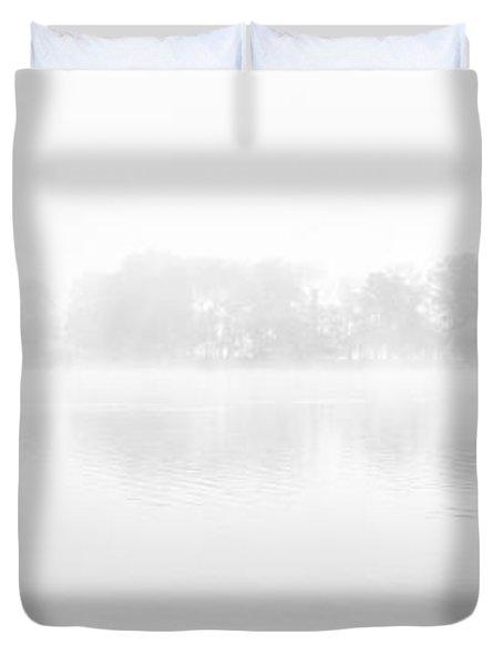 Morning Mist Loch Ard Duvet Cover