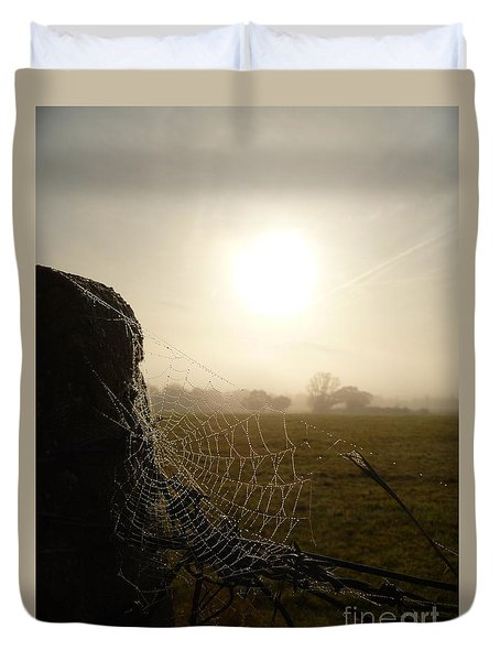 Duvet Cover featuring the photograph Morning Mist by Vicki Spindler