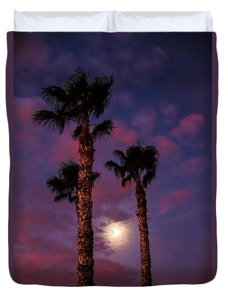 Morning Moon Duvet Cover by Robert Bales