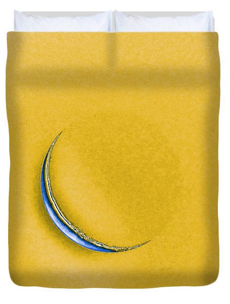 Morning Moon Yellow Duvet Cover by Al Powell Photography USA