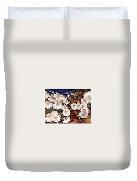 Morning Mushrooms Duvet Cover