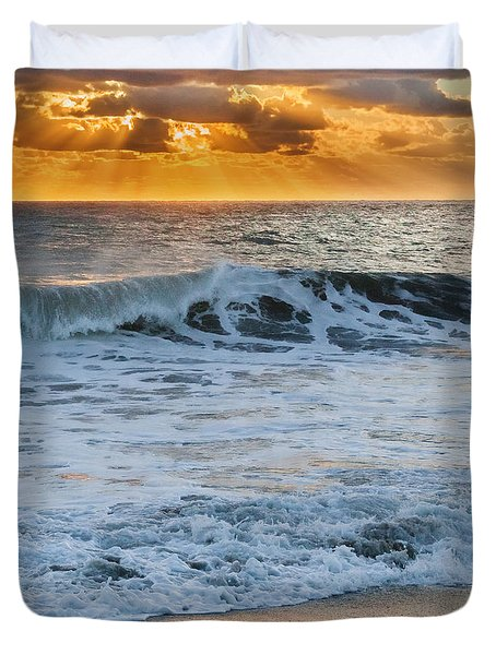 Morning Rays Square Duvet Cover by Bill Wakeley