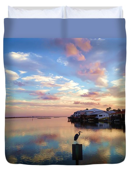 Morning Reflections Duvet Cover by Debra Martz