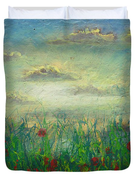Morning Roses Duvet Cover