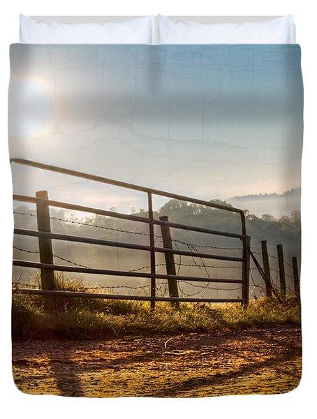 Morning Shadows Duvet Cover by Debra and Dave Vanderlaan