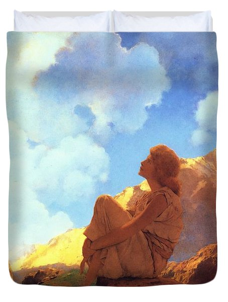 Morning Spring Duvet Cover by Maxfield Parrish