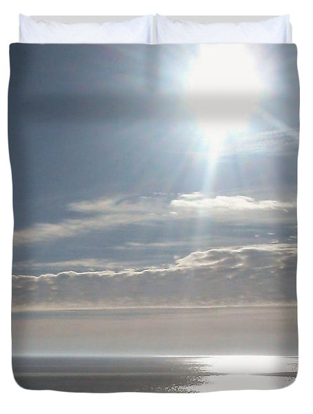 Duvet Cover featuring the photograph Morning Stroll by Robert Banach