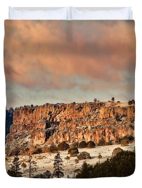 Morning Sun On The Ridge Duvet Cover