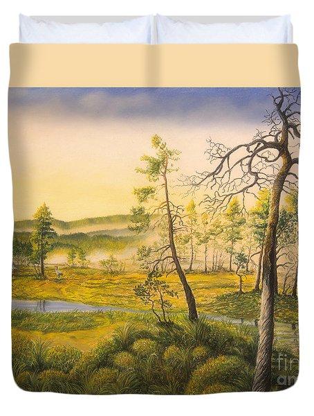 Morning Swamp Duvet Cover by Veikko Suikkanen
