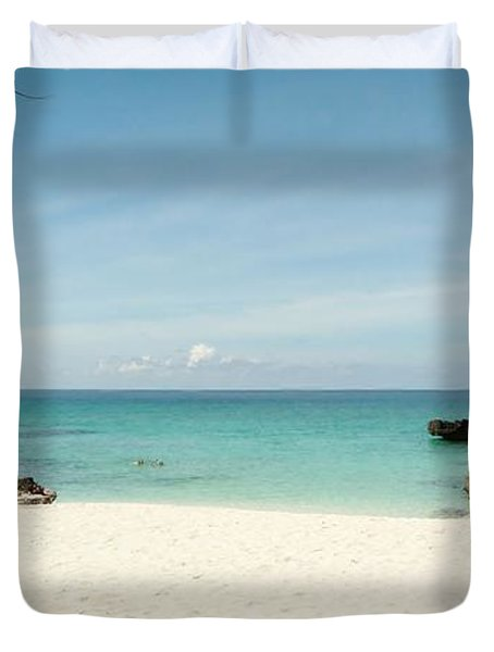 Morning Swim Duvet Cover by Amar Sheow